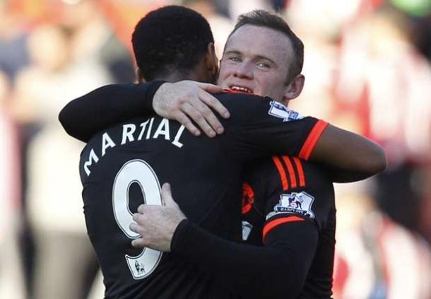 Anthony Martial & Wayne Rooney Menepi Lawan Watford